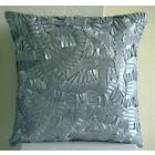 "Silver Mist - Silver Art Silk 16""x16"" Pillow Cover"