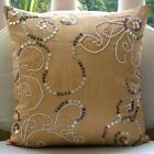 "Mother Of Pearls Beige Art Silk 16""x16"" Throw Pillows Cover - My Pearl Treasure"