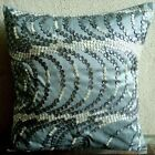 "Blue Ocean Waves 16""x16"" Silk Pillows Cover - Sea Fantasy"