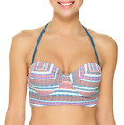 Ambrielle Stripe Bra Swimsuit Top Size M Msrp $42.00 New