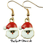 TFB - MINI FATHER CHRISTMAS DANGLE EARRINGS FESTIVE GIFT QUIRKY NOVELTY WINTER