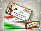 'Personalised Christmas Eve Box Chocolate Bar Wrapper Nice List Stocking Filler