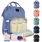 Luxury Maternity Nappy Diaper Bag Large Capacity Baby Mummy Bag Travel Backpack