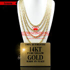 14K AUTHENTIC YELLOW GOLD ITALY CUBAN CURB LINK CHAIN NECKLACE 3MM 16~24 INCH