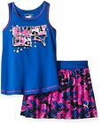 PUMA  Childrens Apparel Baby Little Girls Top and Tulle Skor