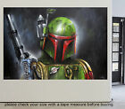 Art Painting Street STAR WARS Bounty Hunter Canvas ORIGINAL by Andy Baker $2000.0 AUD