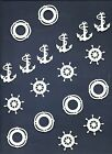 LOTS 6-48 PCS. SUB-SETS NAUTICAL DIE CUTS* *READ* LIGHTHOUSE COMPASS WHEEL OARS