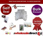 'CLEAR' PVC GRIP SEAL BAGS - All Sizes Available -Great value & Quality 7