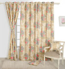 Floral Printed Whiteout Eyelet Polyester Beige Window / Door / Sigma Curtains