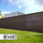 4' 5' 6' 8' Tall Black/Green Fence Windscreen Privacy Screen Cover Fabric Mesh