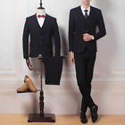 Men's Suits 3 Pieces Short Two Button Formal Business Suits Slim Wedding Suits
