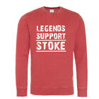 Stoke Sweatshirt Legends Support Red Washed effect White logo