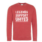 Manchester Sweatshirt Legends SupportRed  Washed effect White logo
