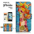 ( For iPhone 6 / 6S Plus ) Case Cover A40502 Abstract Art Giraffe
