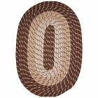 Robin Rugs Plymouth Warm Nylon Durable Country Home Braided Rug Brown