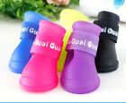 PETTOY CANDY COLOR LATEX BOOTS S/M/L Size Dog Pet Shoes Small Medium Puppy Run