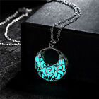 17Km 2016 New Statement Neclace Hollow Out Heart Pendant Glow In Dark Long