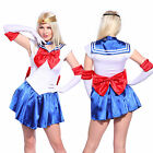 Sailor Moon Kostüm Cosplay Anime Uniform Fancy Kleid Gloves Karneval Verkleidung