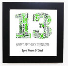 BIRTHDAY GIFT WORD ART PERSONALISED POSTER  - CHOOSE ANY NUMBER 18TH, 21ST, 40TH