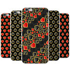 Card Suits Diamonds Hearts Clubs Spades Hard Case Phone Cover for Apple Phones