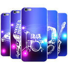 Funky Hand Drawn Music Elements Snap-on Hard Case Phone Cover for Apple Phones