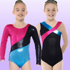 Justaucorps de Dance Ballet Uniforme Gymnastique Brillant Sans Manche Longue 3-8