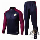 TOP Purple sleeves Dark blue jacket trousers For Manchester Soccer pioneer