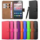 Leather Wallet Flip Pouch Book Card Case Cover For Various Smart Mobile Phones