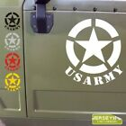 Pick Size Colour US Army Star Decal Sticker Car Vinyl Willys Veteran bold