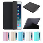 Clear Soft Rubber PU Leather Smart Folio Case Cover Stand For iPad Tablet Models
