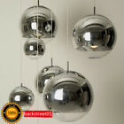 LED Bulbs Chrome Mirror Glass Ball Pendant Lamp Ceiling Light Fixture Lighting