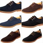 Mens Casual Oxford Dress Shoes Low Heel Suede Leather Boys Size 5 12