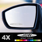 MINI JOHN COOPER WORKS JCW Wing Mirror Glass Silver Frosted Etched Decal Sticker