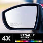 RENAULT SPORT Wing Mirror Glass Silver Frosted Etched Car Vinyl Decal Stickers