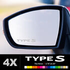 HONDA TYPE S Wing Mirror Glass Silver Frosted Etched Car Vinyl Decal Stickers