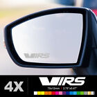 SKODA FABIA OCTAVIA VRS Wing Mirror Glass Silver Frosted Etched Decal Sticker