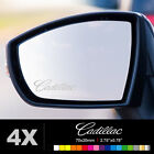 CADILLAC Wing Mirror Glass Silver Frosted Etched Car Vinyl Decal Stickers
