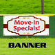 Move in Specials Apartment House Commercial Rent Vinyl Banner Sign photo