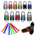 8pairs Easy No Tie Elastic Shoe Lace Silicone Sports Shoes Adult Kids Shoelaces