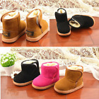 Infant Baby Toddler Warm Boots Kids Boys Girls Winter Snow Fur Shoes Size 21-25