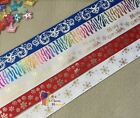 "7/8-1"" Xmas Snowflakes Curl Printed Grosgrain Ribbon hair Bow Craft 5/10/20Yards"
