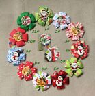"10/25pcs Baby/girl Kids Bouquet Xmas 2.35"" Hair Bow Hairpin Hairties Snap clips"
