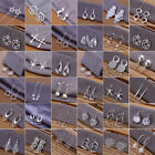 Wholesale 925 Filled  Silver Ear Stud Dangle Hoop Drop Earrings Charm Jewelry