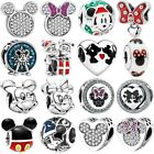Micky Minnie S925 silver charms dangle pendant bead For bracelet chain bangle image