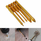 Hex Ti Porcelain Spear Head Ceramic Tile Glass Marble Drill Bits 4/5/6/8/10/12mm