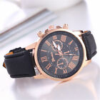 Hot Fashion Watches Leather Stainless  Men women Steel Analo