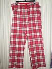 Women's L Cotton Flannel Pajama Lounge Pants Red Plaid, Paisley Sleep Pant NEW