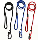 3Size Adjustable Dog Pet Training Neck Leash Strong Nylon Rope Lead Leash Collar
