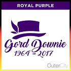 Gord Downie Tribute Decal - Vinyl Car Window Vehicle Sticker Hip R.I.P. RIP 2017