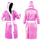 Boxing Gown Robe Martial Art NEVER SURRENDER LOGO Pink Ladies & Girls